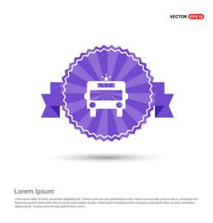 ambulance icon - purple ribbon banner vector image