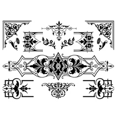 antique design elements vector image
