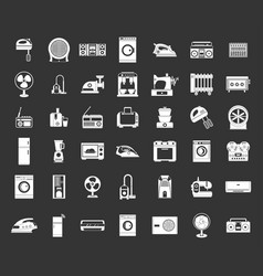 appliances icon set grey vector image