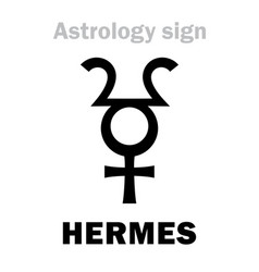 Astrology planet hermes vector