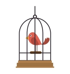 Bird cage element vector