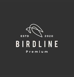bird line hipster vintage logo icon vector image