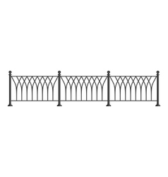 Black forged lattice fence vector