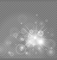 Bokeh lights with glowing particles vector