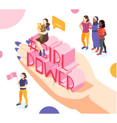 bring girl power composition vector image