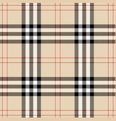 burberry plaid scottish cage background vector image