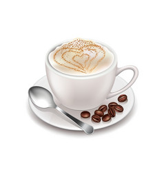 Cappuccino isolated on white vector image