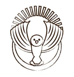 cartoon dove icon vector image
