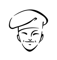 Chinese chef in a toque vector image