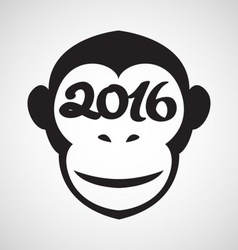 chinese new year monkey poster vector image