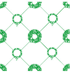 christmas wreath seamless pattern vector image