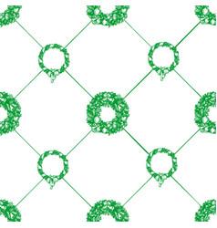 christmas wreath seamless pattern vector image