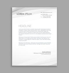 clean minimal lettehead design vector image