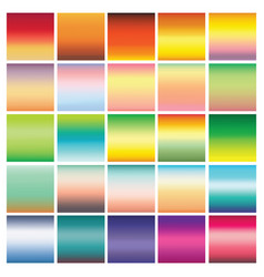 Collection of 25 abstract colorful gradients vector