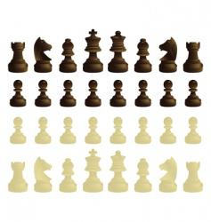 Coloured chessmen vector