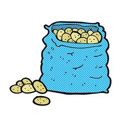 comic cartoon sack of potatoes vector image