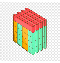 Database query table icon cartoon style vector