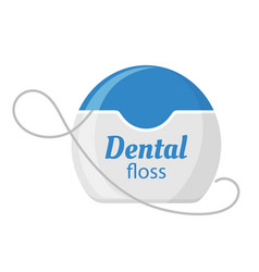 dental floss icon medical and dentistry vector image