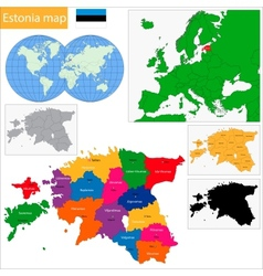 Estonia map vector