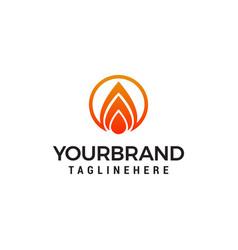 fire flame logo design concept template vector image