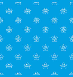 Gmo free research pattern seamless blue vector