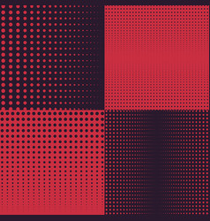 halftone backgrounds in dark and red vector image