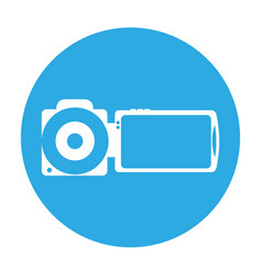 Handy camera isolated icon vector