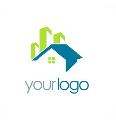 House building realty logo vector