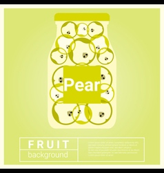 Infused water fruit recipe with pear vector
