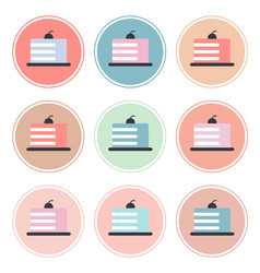 Instagram highlights stories covers icons vector