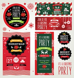 Invitations Merry Christmas vector image