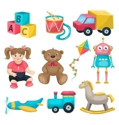 Kids single toys set vector