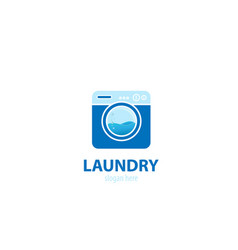 Laundry cleaning logo vector