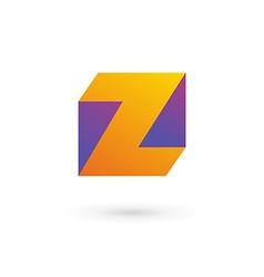 Letter Z cube logo icon design template elements vector image