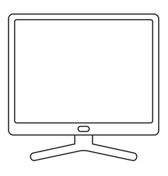 line art black and white pc display vector image