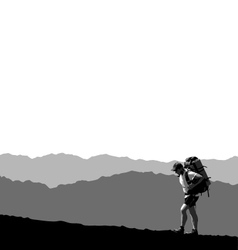 Lone traveler vector