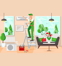 maintenance air conditioners vector image