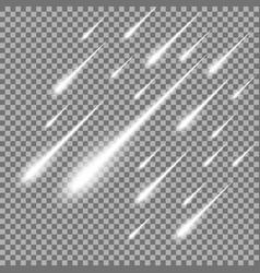 Meteor rain background white color vector