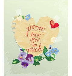 Mom calligraphy 380 vector