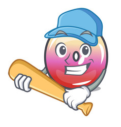 playing baseball jelly ring candy character vector image