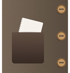 pocket and buttons vector image