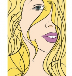 portrait of a blond gir vector image