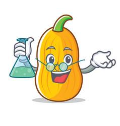 Professor butternut squash character cartoon vector