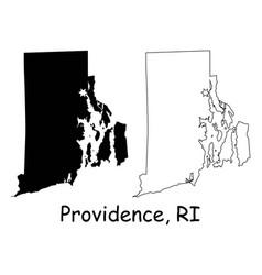 Providence rhode island ri state border usa map vector