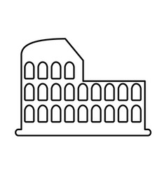 roman coliseum ruins isolated icon vector image