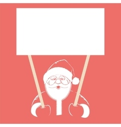 Santa Claus holding white blank vector image