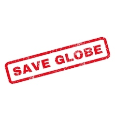 Save Globe Rubber Stamp vector