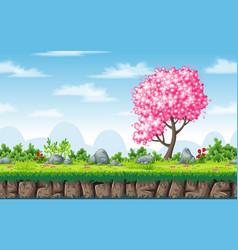 seamless spring nature background with separate vector image