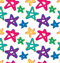 Seamless stars pattern in retro color vector