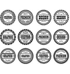 Set award stamp for design studios vector image